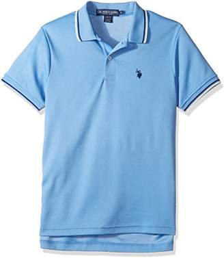 U.S. Polo Assn. Men's Slim Fit Solid Short Sleeve Poly Polo Shirt