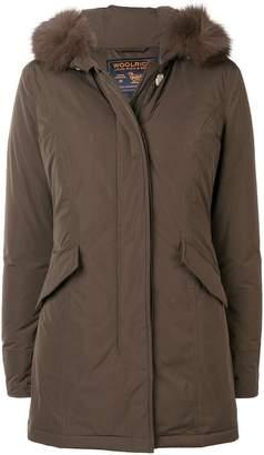 Woolrich short fur detail coat