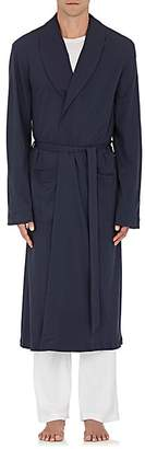 Hanro Men's Cotton Long Robe - Navy