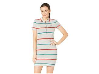 1da7fe14a3 Lacoste Short Sleeve Striped Cotton Pique Classic Polo Dress
