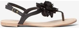 Dorothy Perkins Womens Black 'Fleur' Corsage Sandals