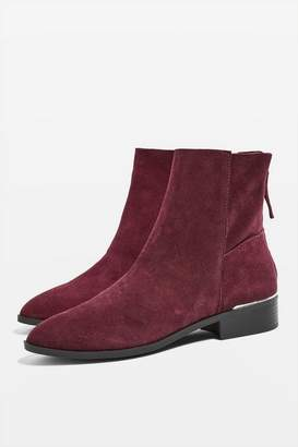 Topshop KOKO Unlined Flat Leather Boots