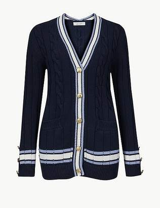 Marks and Spencer Pure Cotton Textured Cardigan