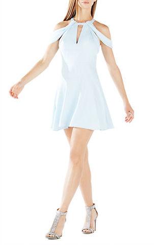 BCBGMAXAZRIABcbgmaxazria Salli Cold Shouder Fit-and-Flare Dress