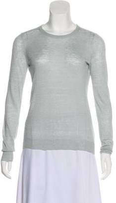 Theory Linen Rib Knit Top