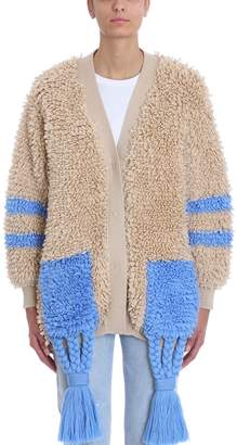 Off-White Off White Chunky Carpet Effect Cardigan