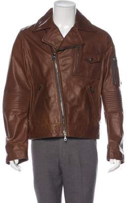 Michael Bastian Leather Moto Jacket