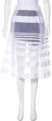 Tibi Knee-Length Flare Skirt