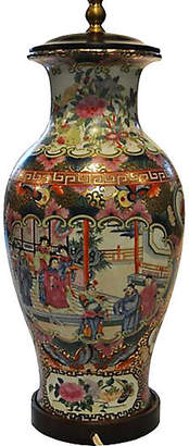 One Kings Lane Vintage Hand-Painted Chinese Lamp