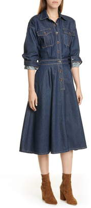 Polo Ralph Lauren Long Sleeve A-Line Denim Dress