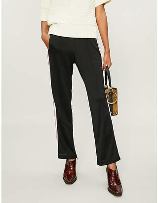 Ganni Dubois side-stripe piqué trousers