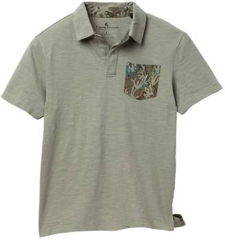 Tailor Vintage Johnny Collar Coral Camo Pocket Polo (Big Boys)