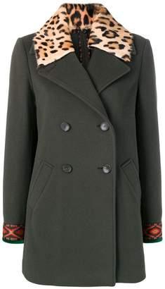 Etro leopard collar coat