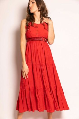a5398346b The Korner - Red Maxi Dress - 36 - Red