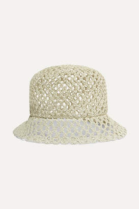 CLYDE Woven Straw Batta Hat - Off-white