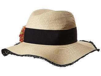 Betsey Johnson Pom Pom Girl Panama Hat Caps