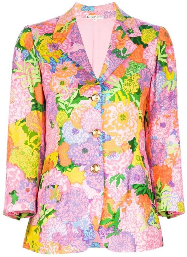 Ken Scott Vintage floral printed blazer