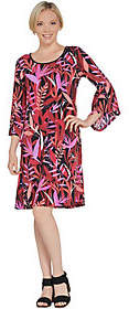 Bob Mackie Bob Mackie's Tropical Paradise PrintKnit Dress