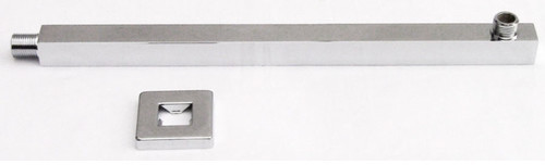 """Alfi Brand 16"""" Square Wall Mounted Shower Arm for Square Rain Shower Heads"""