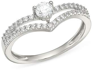 Bloomingdale's Diamond Crest Ring in 14K White Gold, 0.35 ct. t.w. - 100% Exclusive