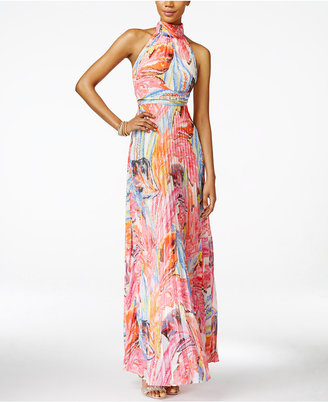 INC International Concepts Pleated Floral-Print Maxi Dress, Only at Macy's $159.50 thestylecure.com