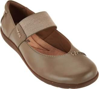 Clarks Leather Gore Strap Mary Janes - Medora Elie