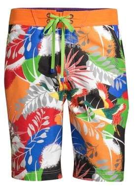 Robert Graham Matanazas Tropical Print Board Shorts