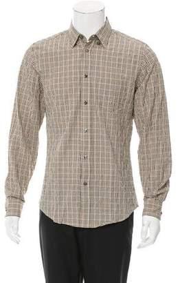 Bottega Veneta Plaid Button-Up Shirt