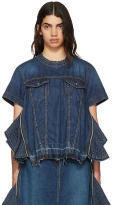 Sacai Blue Denim Blouse
