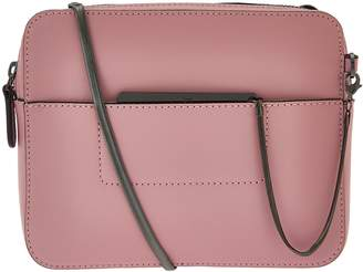 4ef7db8a27 Halston H By H by Smooth Leather Crossbody Bag with Double Zippers