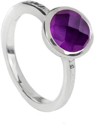 Neola - Estella Sterling Silver Stacking Ring Amethyst