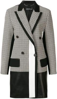 Barbara Bui checked print elongated blazer