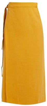Haight Tie Waist Sarong Skirt - Womens - Dark Yellow