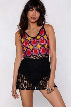 Nasty Gal Hole Lot of Leavin' Crochet Dress