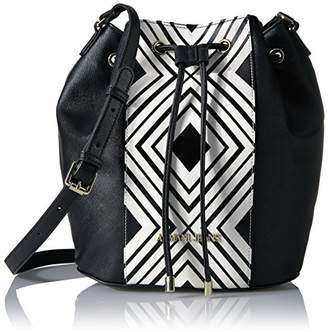 Armani Jeans London Printed Bucket Bag