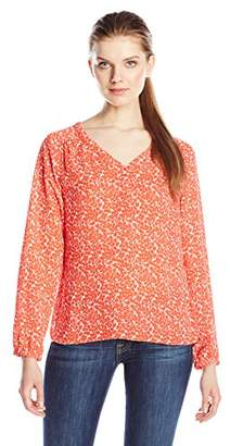 Dockers Women's Long Sleeve Crepe Tunic Blouse $16.57 thestylecure.com