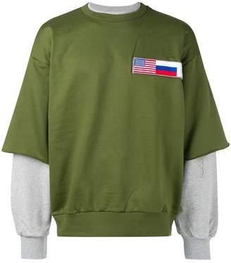 Gosha Rubchinskiy layered sweatshirt