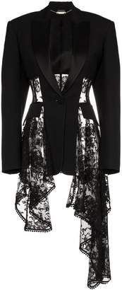 Alexander McQueen lace drape corset jacket