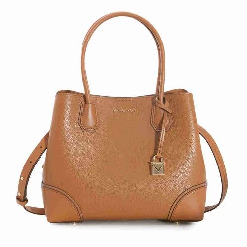 Michael Kors Mercer Medium Leather Satchel - Acorn - ONE COLOR - STYLE