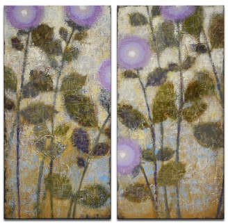 "Ready2hangart 'Charoite' 2 Piece Floral Canvas Wall Art Set, 40x20"""