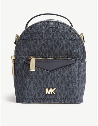 MICHAEL Michael Kors Michael Kors Blue Jessa Leather Cross Body Backpack