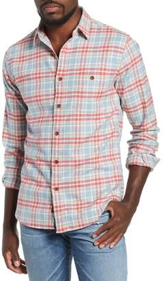 Faherty Seaview Stretch Organic Cotton Plaid Sport Shirt