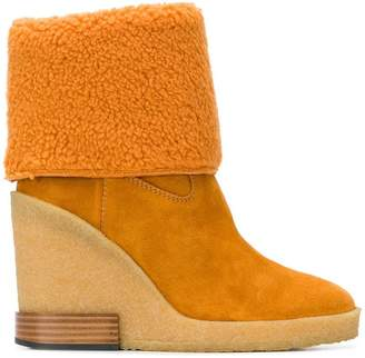 Tod's foldover shearling boots
