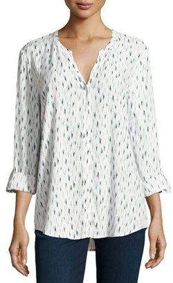 Soft Joie Dane Printed Long-Sleeve Top, White $138 thestylecure.com