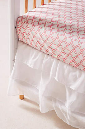 Anthropologie Ruffled Crib Skirt