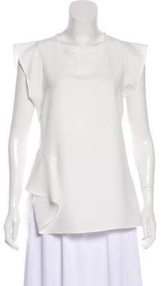 Peserico Semi-Sheer Crew Neck Blouse w/ Tags