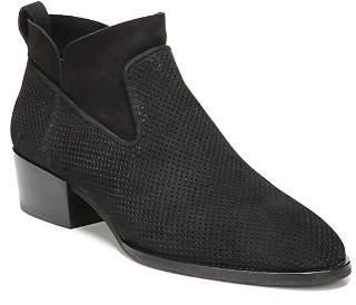 Via Spiga Tricia Perforated Block Heel Booties
