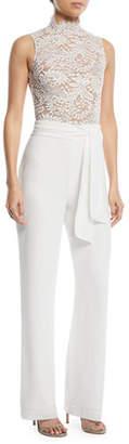 Josie Misha Sleeveless Lace Combo Pantsuit