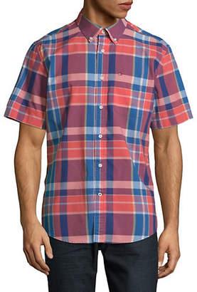 Tommy Hilfiger Payne Custom-Fit Short-Sleeve Plaid Shirt