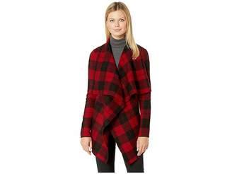 Lauren Ralph Lauren Checkered Merino Shawl Sweater